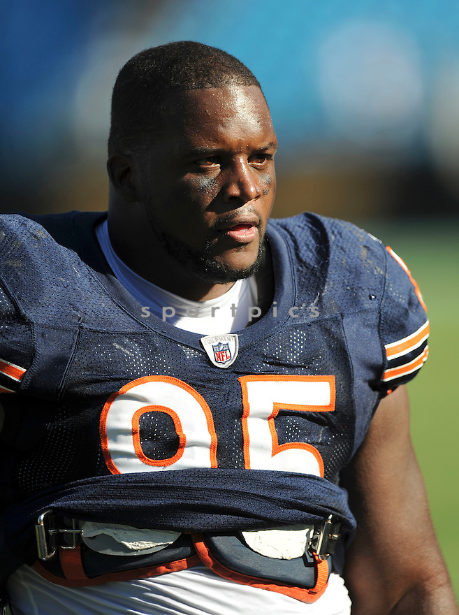 ANTHONY ADAMS, of the Chicago Bears, in action during the Bears game against the Carolina Panthers on October 10, 2010 at Bank of America Stadium in Charlotte, North Carolina...Chicago beats Carolina 23-6