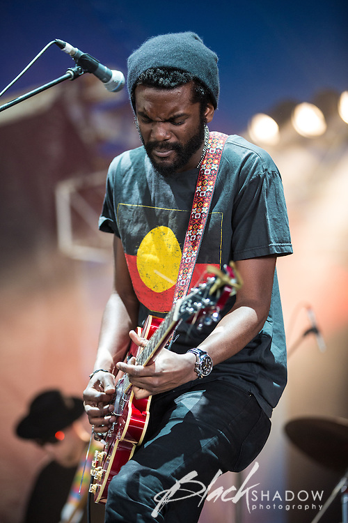 Gary Clark Jr performing at The Big Day Out, Melbourne, Flemington Racecourse, 26 January 2013
