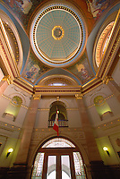 Ornate Gilded / Painted Ceiling of Upper and Lower Rotunda in BC Parliament Buildings, Victoria, British Columbia, Canada