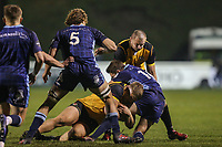 during the Championship Cup match between London Scottish Football Club and Ealing Trailfinders at Richmond Athletic Ground, Richmond, United Kingdom on 23 November 2018. Photo by David Horn/PRiME Media Images