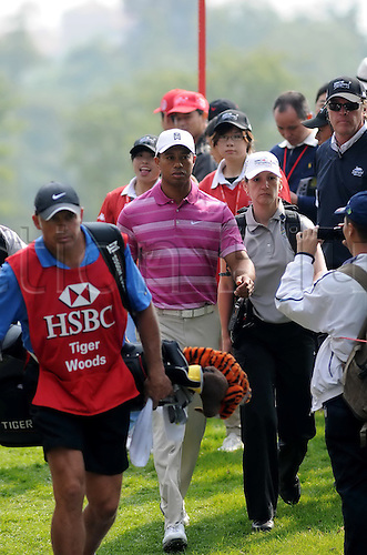 05.11.2010 Shanghai, CHINA; Tiger Woods of the USA during the second round of the WGC - HSBC Champions at Sheshan International Golf Club.