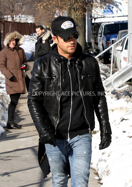 WWW.ACEPIXS.COM<br /> <br /> February 11 2014, New York City<br /> <br /> Actor Justin Theroux on the set of the new TV show 'The Leftovers' on February 11 2014 in New York City<br /> <br /> By Line: Zelig Shaul/ACE Pictures<br /> <br /> <br /> ACE Pictures, Inc.<br /> tel: 646 769 0430<br /> Email: info@acepixs.com<br /> www.acepixs.com