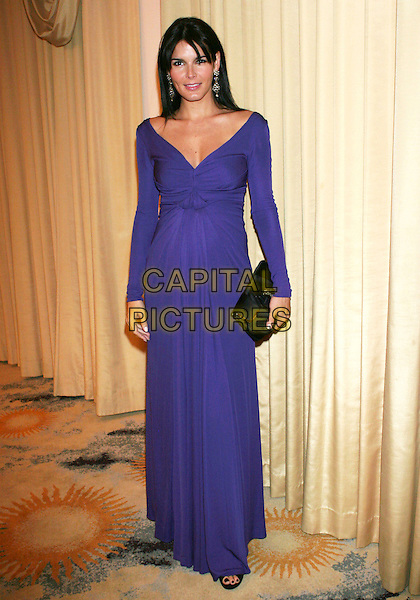 "ANGIE HARMON .""IWMF"" International Women's Media Foundation Courage in Jounalism Awards held at the Beverly Hills Hotel, Beverly Hills, California, USA, .16 October 2008..full length purple long sleeved dress long maxi clutch bag black .CAP/ADM/TC.©T. Conrad//Admedia/Capital Pictures"