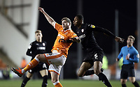 Blackpool's Steven Davies battles with Barnsley's Ethan Pinnock<br /> <br /> Photographer Rich Linley/CameraSport<br /> <br /> The EFL Sky Bet League One - Blackpool v Barnsley - Saturday 22nd December 2018 - Bloomfield Road - Blackpool<br /> <br /> World Copyright &copy; 2018 CameraSport. All rights reserved. 43 Linden Ave. Countesthorpe. Leicester. England. LE8 5PG - Tel: +44 (0) 116 277 4147 - admin@camerasport.com - www.camerasport.com