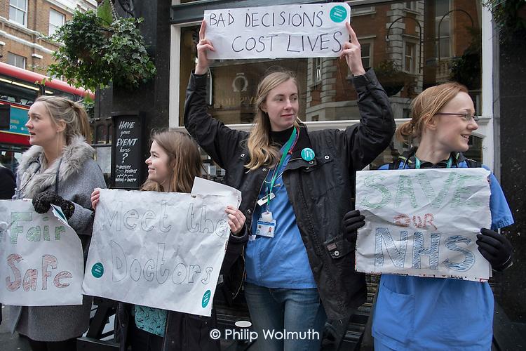 Junior doctors strike over new contract. St Mary's Hospital, Paddington, London.