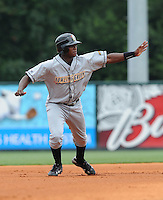 June 14, 2009: Tim Beckham (26) of the Bowling Green Hot Rods, first pick in the 2008 draft and No. 2 prospect of the Tampa Bay Rays, in a game against the Greenville Drive at Fluor Field at the West End in Greenville, S.C. Photo by: Tom Priddy/Four Seam Images