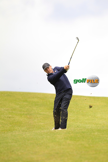 Joe Lyons (Galway) on the 10th fairway during Round 3 of the Irish Mid-Amateur Open Championship at New Forest on Sunday 21st June 2015.<br /> Picture:  Thos Caffrey / www.golffile.ie