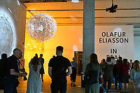 Olafur Eliasson, Stardust particle 2014 at Olafur Eliasson, In real life exhibition. Sixteen years since his sun installation The weather project dazzled over 2 million visitors in Tate Modern's Turbine Hall, Danish-Icelandic artist presents the biggest survey of his career so far, In real life, a showcase of new immersive installations, an unmissable survey spanning over 30 years of Eliasson's career, at Tate Modern, London England on July 09, 2019.<br /> CAP/JOR<br /> ©JOR/Capital Pictures