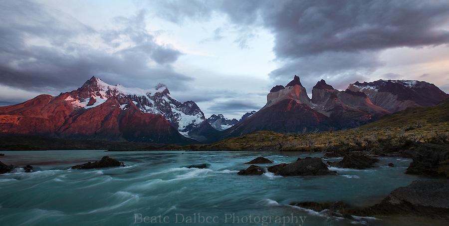 sunrise over Torres del Paine, Patagonia, Chile