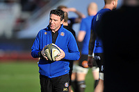 Bath Rugby Head Coach Mike Ford looks on during the pre-match warm-up. European Rugby Champions Cup match, between RC Toulon and Bath Rugby on January 10, 2016 at the Stade Mayol in Toulon, France. Photo by: Patrick Khachfe / Onside Images
