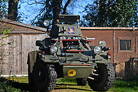 BNPS.co.uk (01202 558833)<br /> Pic: ZacharyCulpin/BNPS<br /> <br /> Bullet proof bargain -  This Cold War era British 'little tank' is being touted as a armour plated investment with ultra low insurance, and no VAT,  road tax or MoT.<br /> <br /> The Ferret scout car was a reconnaissance vehicle used by the British Army in Germany during the height of the Cold War.<br /> <br /> This one was decommissioned in the 1990s and has been owned in recent years by a private collector.<br /> <br /> It is now being sold at auction for a pre-sale estimate of between £15,000 to £20,000.<br /> <br /> But after the initial outlay, the vehicle is said to be incredibly cheap to run.