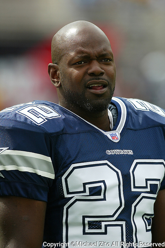 Emmitt Smith In an NFL game played at Sun Devil Stadium between the Dallas Cowboys and the Arizona Cardinals. Where the Cardinals beat the Cowboys 9-6 in OT.