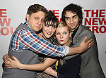 "Joe Tippett, Isabelle Fuhrman, Abigail Breslin, Alex Wolff attend the Opening Night of The New Group World Premiere of ""All The Fine Boys"" at the The Green Fig Urban Eatery on March 1, 2017 in New York City."