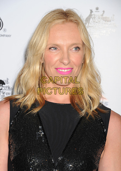 Toni Collette.at The G'Day USA Black Tie Gala held at The JW Marriot at LA Live in Los Angeles, California, USA..January 12th 2013.portrait headshot black  pink lipstick make-up beauty sleeveless sequins sequined .CAP/ROT/TM.©Tony Michaels/Roth Stock/Capital Pictures