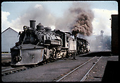 #498 K-37 - Chama - coaling tower &amp; tank in background.<br /> D&amp;RGW  Chama, NM