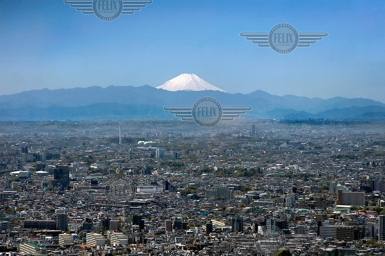 A view from the Tokyo Metropolitan Government Building  over the city towards Mount Fuji. /Felix Features