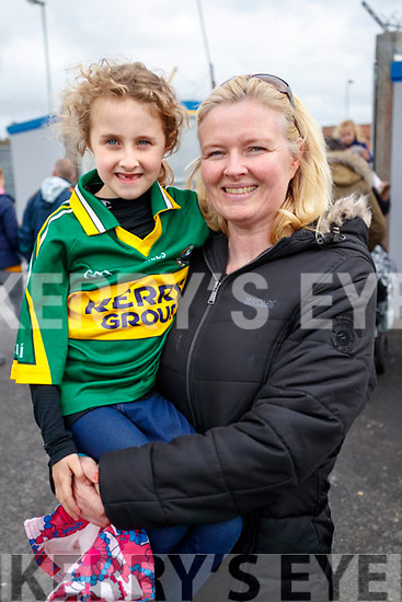 Kerry fans Anna and Julie O'Sullivan (Abbeydorney and Limerick), pictured at the Kerry v Clare Munster Senior Football Semi-Final at Cusack, Park, Ennis on Sunday last.