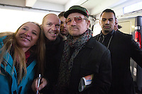 Bono meets with his fans at the Steigenberger hotel in Brussels - Belgium - Exclu