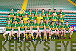 The Kerry Minor Squad 2013.Front l-r: Cian Sayers (Kerins O'Rahilly's) Tony Brosnan (Dr Crokes) Greg Horan (Austin Stacks) Jack Savage (Kerins O'Rahillys) Conor Keane (Killarney Legion) Shane O'Connor (John Mitchel's) Michéal Burns (Dr Crokes) Killian Spillane (Templenoe) Conor O'Shea (St Mary's) and Joe O'Kelly (Austin Stacks). Middle l-r: John Rice (Templenoe) Brian Sugrue (Renard) Matthew Flaherty (Dingle) Darragh O'Shea (Ballydonoghue) Kevin Shanahan (Ardfert) Shane Ryan (Rathmore) Barry O'Sullivan (Dingle) Kieran Murphy (Glenflesk) Paudie Carroll (Ardfert) . Back l-r: Cian O'Connor (Castleisland Desmonds) Eanna O Conchuir (An Ghaeltacht) Cathal O Luing (An Ghaeltacht) Brian Wall (Beale) Fionan Clifford (Waterville) Padraig O Conchuir (Dingle) Conor Jordan (Austin Stacks), Sean T. Dillon (St. Senans) David Foran (St. Senans) .
