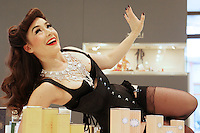 Burlesque Artist Kitty Bang Bang in Brown Thomas