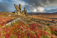 Granite tors in the Bering Land Bridge National Preserve, Seward Peninsula, Alaska.