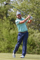 Stephan Jaeger (GER) watches his tee shot on 15 during Round 1 of the Valero Texas Open, AT&amp;T Oaks Course, TPC San Antonio, San Antonio, Texas, USA. 4/19/2018.<br /> Picture: Golffile | Ken Murray<br /> <br /> <br /> All photo usage must carry mandatory copyright credit (&copy; Golffile | Ken Murray)