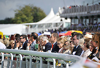 03.08.2013 Goodwood, England.  The crowds during day five of the  Glorious Goodwood Festival. Feature race 3.15 The Markel Insurance Nassau Stakes (British Championship Series). Group 1