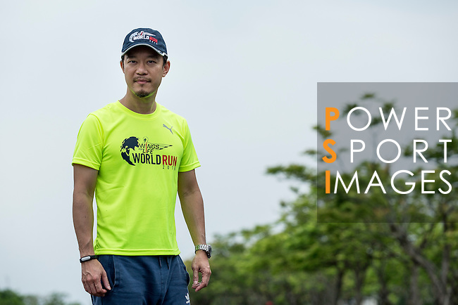 Wings for Life Ambassador and Author Xuan Liu poses for a photograph during the Wings for Life World Run on 08 May, 2016 in Yilan, Taiwan. Photo by Victor Fraile / Power Sport Images