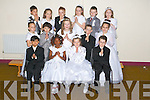 Pupils of Denis Griffin's class, Mercy Moyderwell primary school who have made their First holy Communion, pictured on Tuesday. Pictured in the back row are: Paulius Zymantas, Samantha Ziauberyte, Michael Rowe, Eimear ODowd, Sean OSullivan and Alicja Suska. Middle row: Cassidy Barrett, Karim Pilipchik, Freya OConnor, Adam Bentley and Victoria Fitzgerald. Front row: Jeff Owen Samointe, Paris Nana, Oliwia Ciniecka and Daniel Stoev.