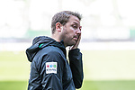 13.04.2019, Weserstadion, Bremen, GER, 1.FBL, Werder Bremen vs SC Freiburg<br /> <br /> DFL REGULATIONS PROHIBIT ANY USE OF PHOTOGRAPHS AS IMAGE SEQUENCES AND/OR QUASI-VIDEO.<br /> <br /> im Bild / picture shows<br /> Florian Kohfeldt (Trainer SV Werder Bremen) vor dem Spiel, <br /> <br /> Foto © nordphoto / Ewert