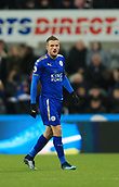 9th December 2017, St James Park, Newcastle upon Tyne, England; EPL Premier League football, Newcastle United versus Leicester City; Jamie Vardy of Leicester City collected a bloody nose in the run up to the own goal winner and was substituted