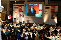 Prime Minster Gordon Brown addresses audience at a Government Conference in Leeds