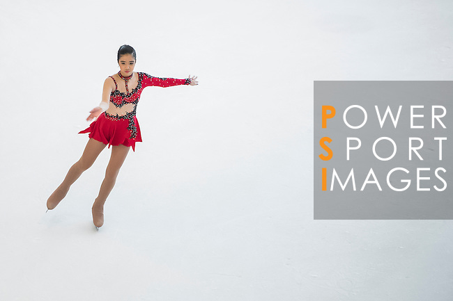 Aleckxis Maryannza Chuidian competes during the Asian Junior Figure Skating Challenge 2015 on October 07, 2015 at the Festival Walk Mall in Hong Kong, China. Photo by Aitor Alcalde/ Power Sport Images