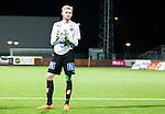 S&ouml;dert&auml;lje 2015-10-05 Fotboll Superettan Syrianska FC - J&ouml;nk&ouml;pings S&ouml;dra :  <br /> J&ouml;nk&ouml;ping S&ouml;dras m&aring;lvakt Anton Cajtoft tackar publiken efter matchen mellan Syrianska FC och J&ouml;nk&ouml;pings S&ouml;dra <br /> (Foto: Kenta J&ouml;nsson) Nyckelord:  Syrianska SFC S&ouml;dert&auml;lje Fotbollsarena J&ouml;nk&ouml;ping S&ouml;dra J-S&ouml;dra portr&auml;tt portrait