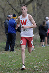 EVANSVILLE, IN - NOVEMBER 18: David Ribich (311) of Western Oregon University competes during the Division II Men's Cross Country Championship held at the Angel Mounds on November 18, 2017 in Evansville, Indiana. (Photo by Tim Broekema/NCAA Photos/NCAA Photos via Getty Images)