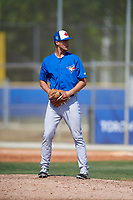 Toronto Blue Jays pitcher Mitch McKown (59) during a Minor League Spring Training game against the New York Yankees on March 18, 2018 at Englebert Complex in Dunedin, Florida.  (Mike Janes/Four Seam Images)