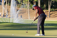 Justin Rose (ENG) putts on the 17th green during Friday's Round 2 of the 2018 Turkish Airlines Open hosted by Regnum Carya Golf &amp; Spa Resort, Antalya, Turkey. 2nd November 2018.<br /> Picture: Eoin Clarke | Golffile<br /> <br /> <br /> All photos usage must carry mandatory copyright credit (&copy; Golffile | Eoin Clarke)