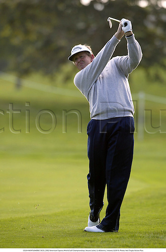 COLIN MONTGOMERIE (SCO), 2002 American Express World Golf Championships, Mount Juliet, Co Kilkenny, Ireland, 020919. Photo: Neil Tingle/Action Plus...golf golfer player............................................. ........................