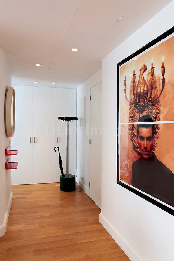 minimal modern hallway