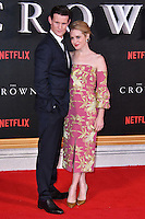 Matt Smith, Claire Foy<br /> Premiere of The Crown, a new Netflix TV series about the reign of Queen Elizabeth II, at Odeon Leicester Square, London, England November 01, 2016.<br /> CAP/JOR<br /> &copy;JOR/Capital Pictures /MediaPunch ***NORTH AND SOUTH AMERICAS ONLY***