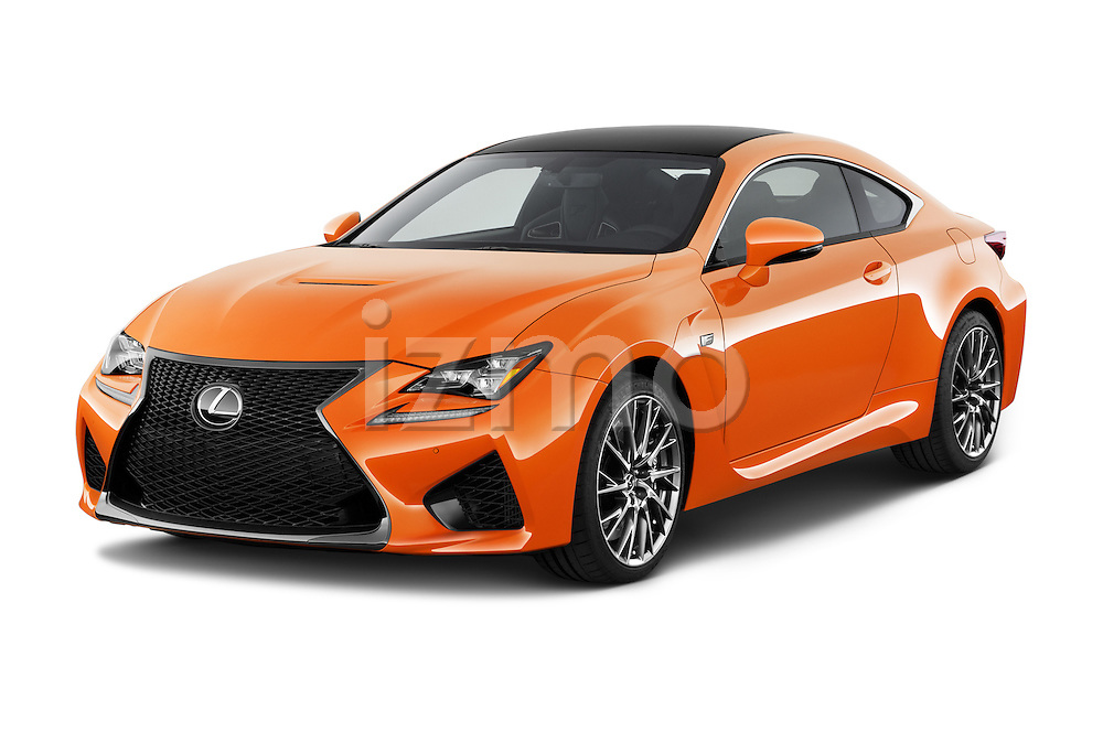 2015 Lexus RC F 2 Door Coupe Angular Front stock photos of front three quarter view