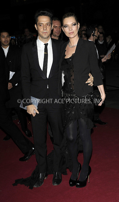 WWW.ACEPIXS.COM . . . . .  ..... . . . . US SALES ONLY . . . . .....December 9 2009, london....Jamie Hince and Kate Moss arriving at the British Fashion Awards at Royal Courts of Justiceon The Strand on December 9, 2009 in London, England.......Please byline: FAMOUS-ACE PICTURES... . . . .  ....Ace Pictures, Inc:  ..tel: (212) 243 8787 or (646) 769 0430..e-mail: info@acepixs.com..web: http://www.acepixs.com