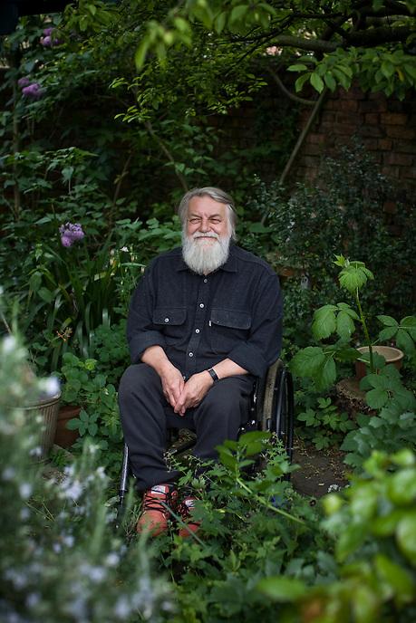 LINCOLNSHIRE, UK - Legendary musician Robert Wyatt at home.