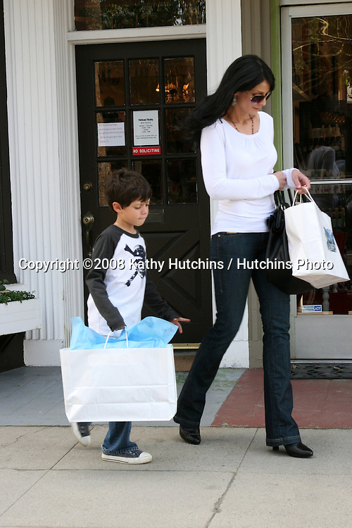 Dayanara Torres & Son Cristian Anthony shopping for baby gifts for his new brother & sister ( The twins his dad Marc Anthony had with Jennifer Lopez).Naked Baby Boutique.12334Ventura Blvd.Studio City, CA.March 16, 2008.©2008 Kathy Hutchins / Hutchins Photo