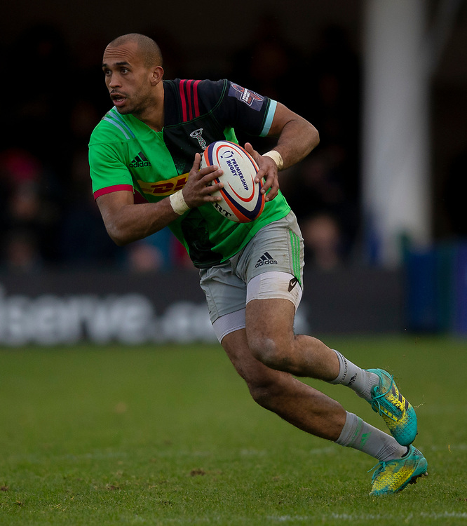 Harlequins' Aaron Morris<br /> <br /> Photographer Bob Bradford/CameraSport<br /> <br /> Premiership Rugby Cup Round 1 - Bath Rugby v Harlequins - Saturday 27th October 2018 - The Recreation Ground - Bath<br /> <br /> World Copyright © 2018 CameraSport. All rights reserved. 43 Linden Ave. Countesthorpe. Leicester. England. LE8 5PG - Tel: +44 (0) 116 277 4147 - admin@camerasport.com - www.camerasport.com