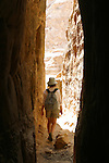 "Trekking in the "" little siq"" or Wadi Muthlim. Petra. Jordan"