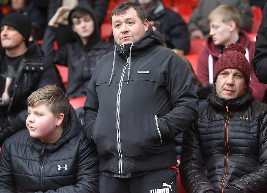 Bolton Wanderers Fans<br /> <br /> Photographer Mick Walker/CameraSport<br /> <br /> The EFL Sky Bet Championship - Sheffield United v Bolton Wanderers - Saturday 2nd February 2019 - Bramall Lane - Sheffield<br /> <br /> World Copyright © 2019 CameraSport. All rights reserved. 43 Linden Ave. Countesthorpe. Leicester. England. LE8 5PG - Tel: +44 (0) 116 277 4147 - admin@camerasport.com - www.camerasport.com