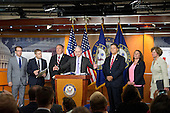 United States Representative Trey Gowdy (Republican of South Carolina), Chairman, US House Select Committee on the Events Surrounding the 2012 Terrorist Attack in Benghazi, Libya, makes remarks during a press conference in the US Capitol announcing the release of the committee report in the US Capitol in Washington, DC on Tuesday, June 28, 2016.  From left to right: US Representative Peter Roskam (Republican of Illinois), US Representative Jim Jordan (Republican of Ohio), US Representative Mike Pompeo (Republican of Kansas), Chairman Gowdy, US Representative Lynn Westmoreland (Republican of Georgia), US Representative Martha Roby (Republican of Alabama), and US Representative Susan Brooks (Republican of Indiana).<br /> Credit: Ron Sachs / CNP