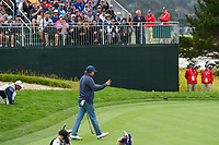Jason Dufner (USA) after sinking his putt o 8 during round 1 of the 2019 US Open, Pebble Beach Golf Links, Monterrey, California, USA. 6/13/2019.<br /> Picture: Golffile | Ken Murray<br /> <br /> All photo usage must carry mandatory copyright credit (© Golffile | Ken Murray)