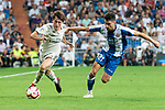 Real Madrid Alvaro Odriozola and RCD Espanyol Marc Roca during La Liga match between Real Madrid and RCD Espanyol at Santiago Bernabeu Stadium in Madrid, Spain. September 22, 2018. (ALTERPHOTOS/Borja B.Hojas)